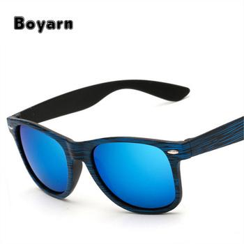 c15f1e45d54 Fashion Color Film Sunglasses Vintage Wood Grain Sunglasses Men Women Rice  nail grain Retro Sunglass Famous