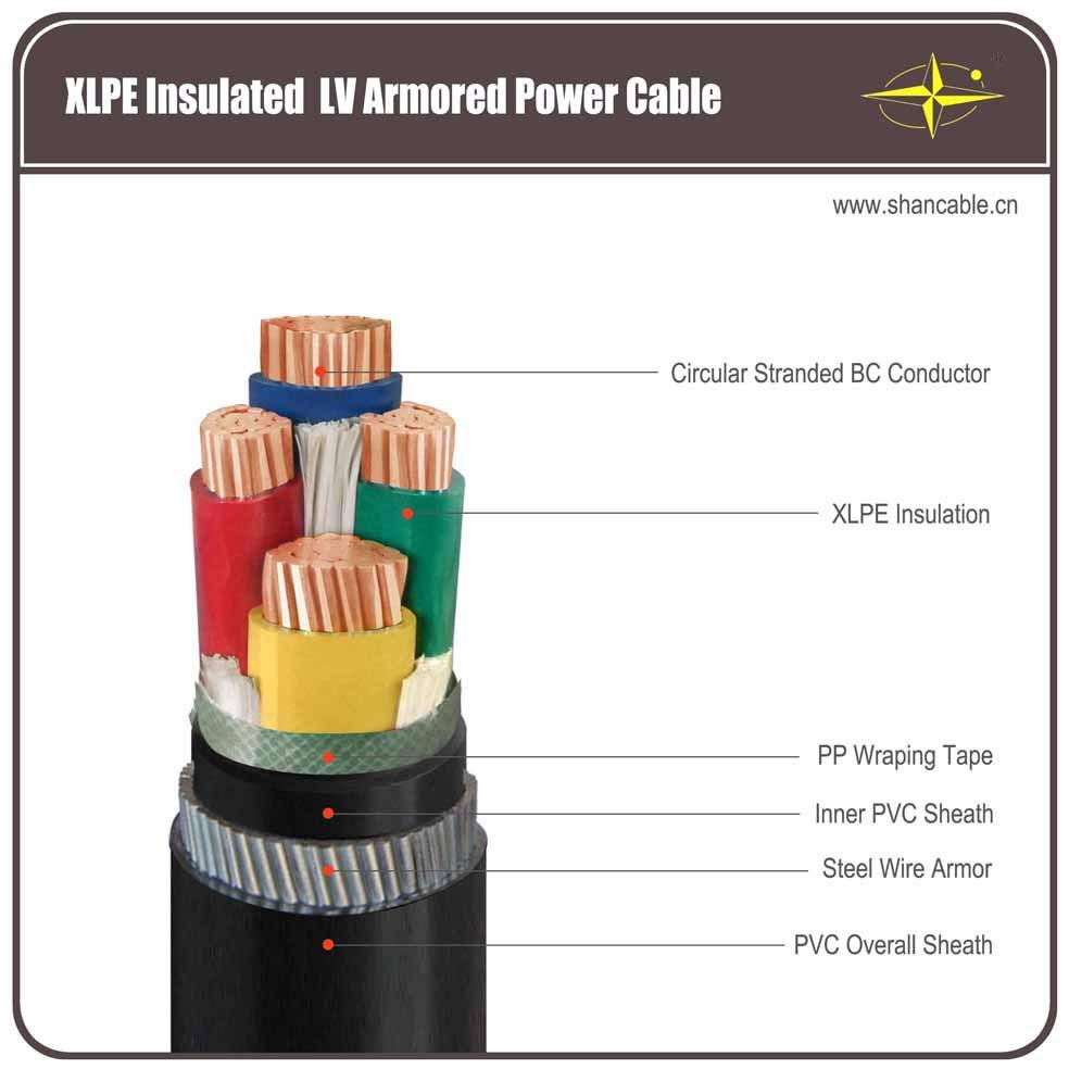 Xlpe Cable Cu Xlpe Pvc Swa Pvc Yjv32 3 70 1 35mm2 Lv 2015