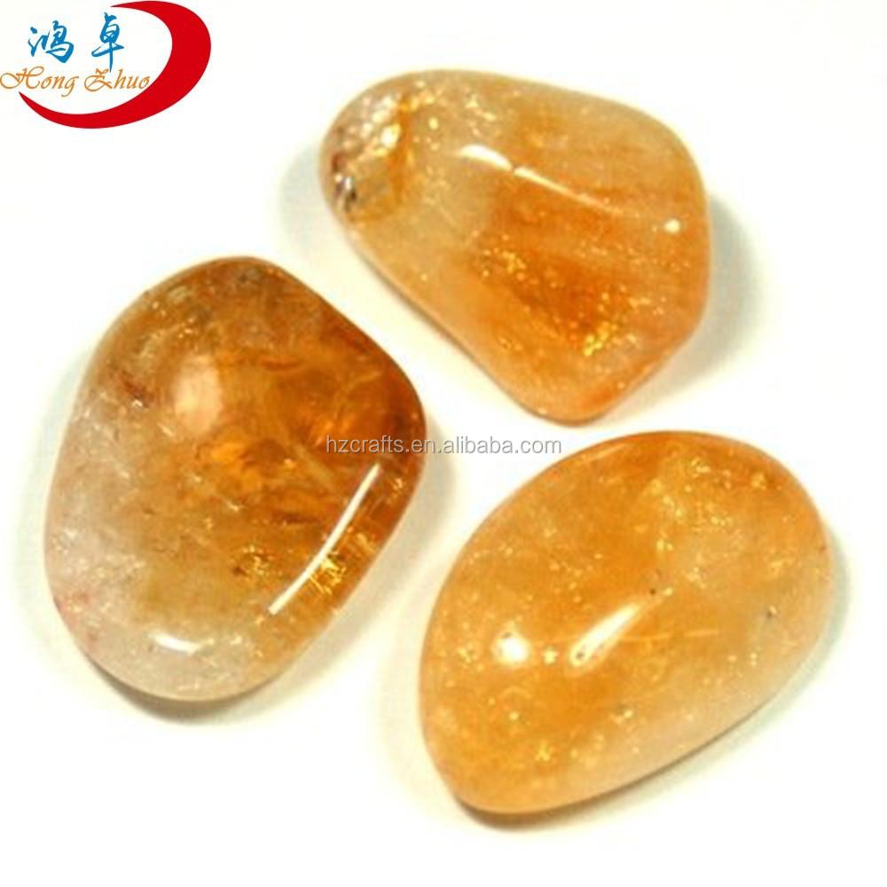 Wholesale Orange Calcite Crystal Tumbled Stones - Buy Tumbled ...