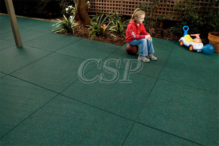 Rubber Floor Edge Outdoor Rubber Tiles For Children Playground