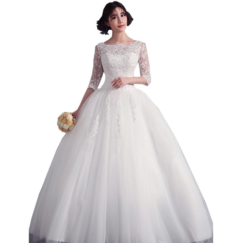 Big Wedding Ball Gowns: Lace Ball Gown Wedding Dresses Women Floor Length Wedding