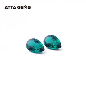 Synthetic Emerald Pear cut 14*9mm emerald gemstone green emerald birthstone