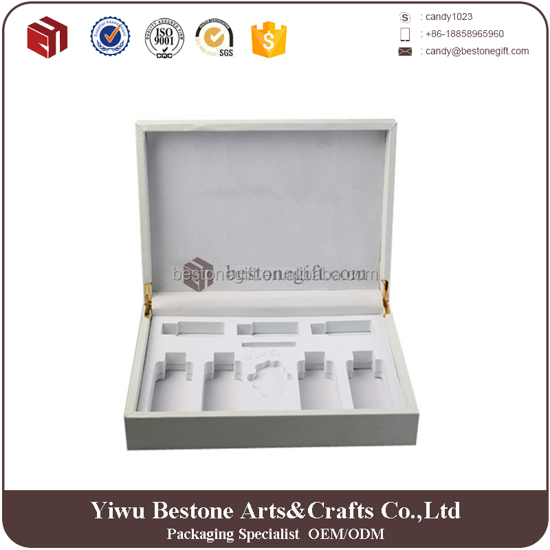 Premium quality handicrafted PU packaging box leather soild perfume box
