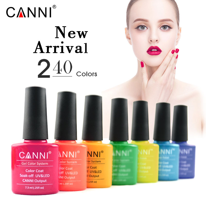 CANNI Best Sale Nail Art Factory Supplies OEM Logo Free Sample 240 Color Gel Lacquer Varnish Enamel Wholesale Nail UV Gel Polish