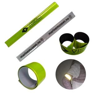 top sale custom high light pvc flocking colorful smart snap bracelet reflective slap wristband visible safety plastic arm band