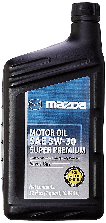 Genuine Mazda Fluid (0000-77-5W30-QT) SAE 5W-30 Super Premium Motor Oil - 1 Quart Bottle