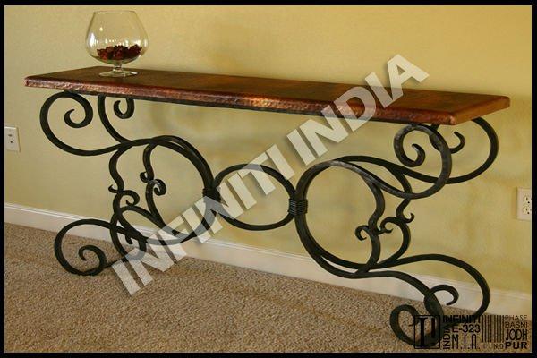 Hierro forjado mesa consola mesas de metal identificaci n for Mesas de hierro forjado