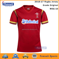 Any logo print good rugby jersey thailand original 100% polyester cheap plain rugby polo shirt OEM
