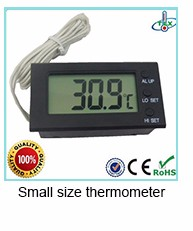Shenzhen factory Digital Thermometer Hygrometer black color withe wire probe
