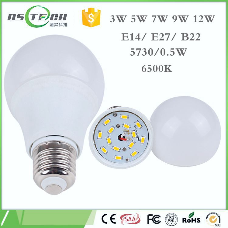 Dawson China wholesale new SMD 220V dimmable 180 angle LED bulb high power 12w E14/ <strong>E27</strong>/ B22 led bulb