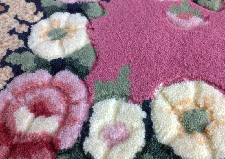 High Quality Floral Doormat Acrylic Semi-circle Welcome Carpet Living Room  Rugs Bathroom Mats Bedroom fur Carpet Home Decorate - us136 5495c0d9f34