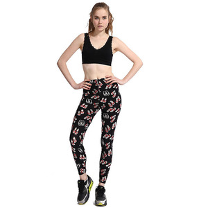 Buttery soft customized printed 92% polyester 8% spandex brushed leggings