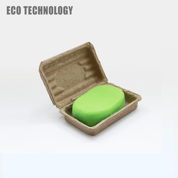 Personalizado pasta de papel moldado clam shell caixa de embalagem de sabão