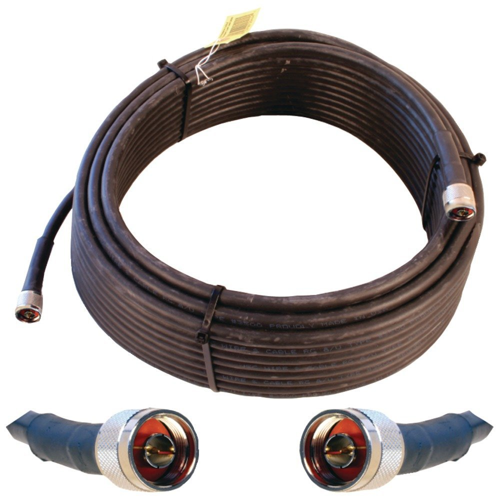 1 - Ultra Low Loss Coaxial Cable (75ft), Works with any Wilson(R) in-building amp equipped with N-connectors, Connects amp to splitter, tap, indoor or outdoor antennas, 952375