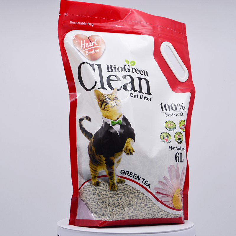 ISO Custom Printed Cat Litter Pet Food Snack Treat Doypack Plastic Bags