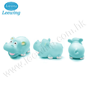 Plastic Animal Rubber Hippo Bath Toy