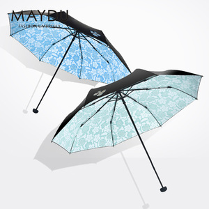 MAYDU l Chinese wholesale product custom handle-open customised parasol small umbrella with print flower for girls ladies