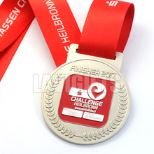 Hot Sale Zinc Alloy Die Casting Custom Award Medal With Ribbon Drape