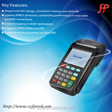 GPRS mobile payment NEW7210 with RFID, MSR, IC card reader and printer