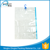 space saving products vacuum hanging clothes storage bags with vacuum hanger
