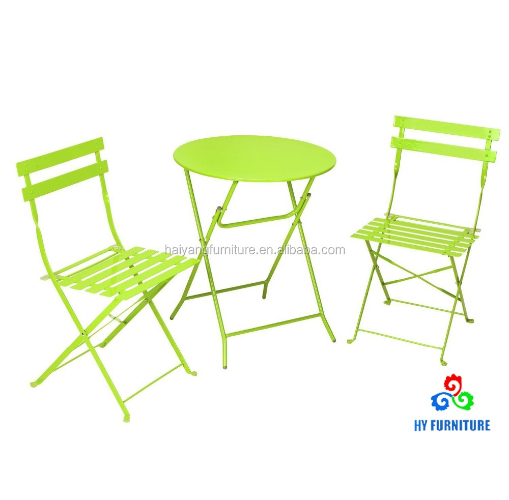 Patio table set tea table and chairs set metal folding table and chairs set supplier