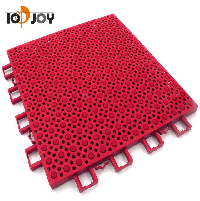 Outdoor Super Elastic Red Air Cushion Interlocking Tile