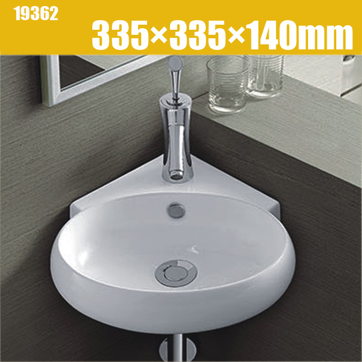 315mm small round corner vanity unit cloakroom wash basin sink