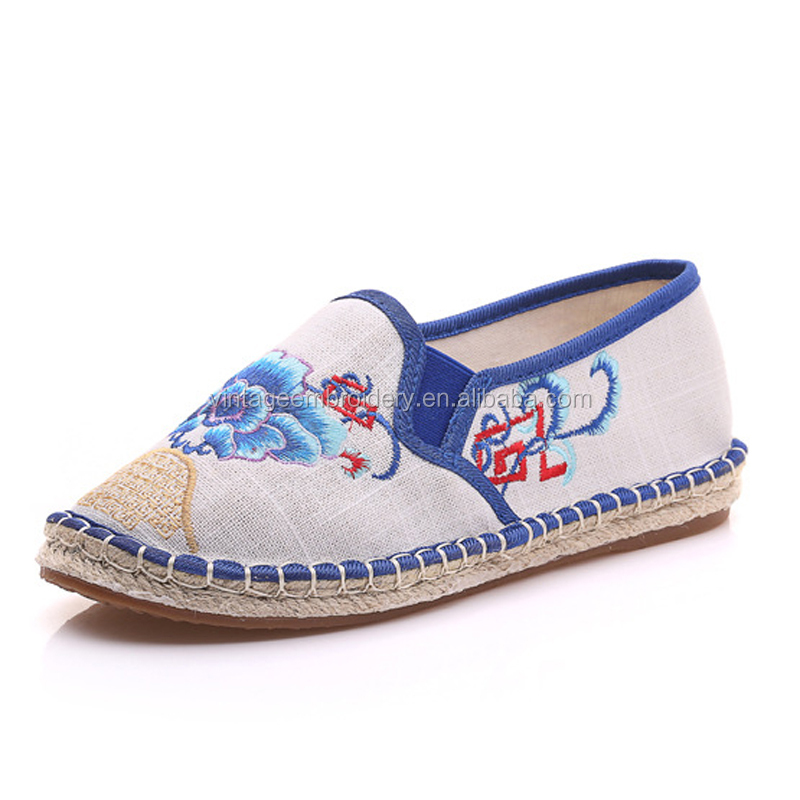 Wholesale Customized Women Casual Canvas Shoes Ladies Shoe Flats Yiwu Shoes Factory
