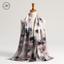 OEM digital print silk twill silk scarf women