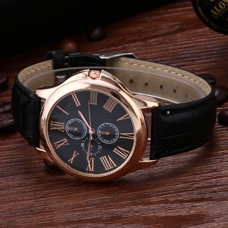 Free shipping wholesale leather wrist watch for <strong>man</strong> LLW028