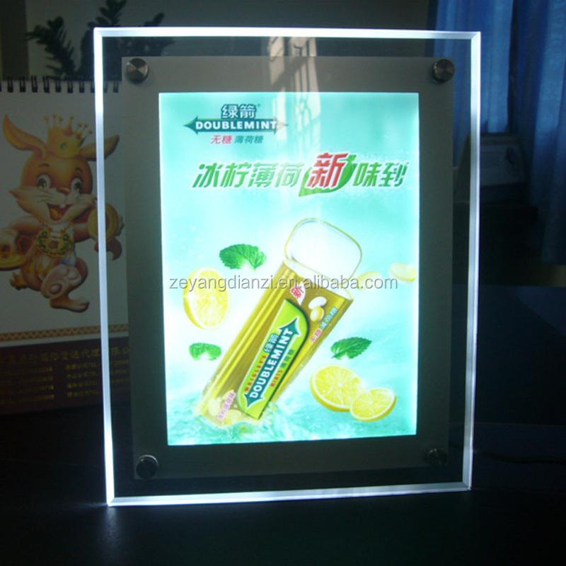 A4 Beleuchtet Bilderrahmen Kristall Geführt Acryl-display - Buy ...