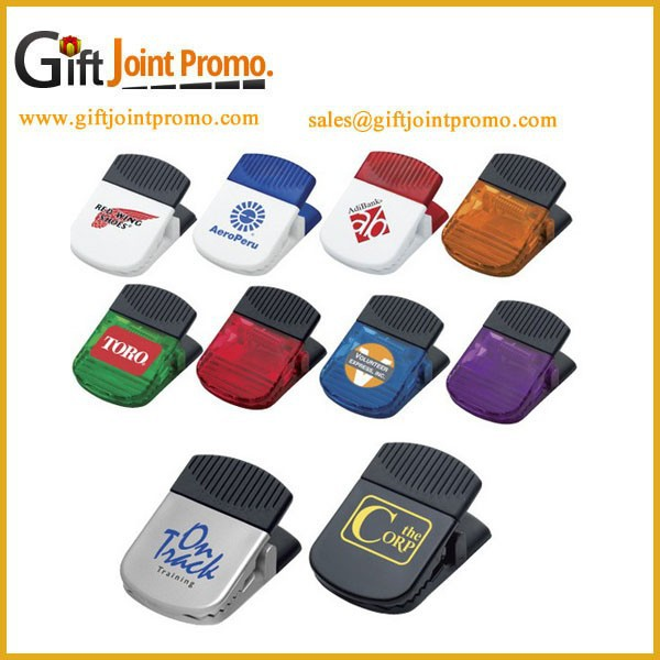 Promotional Plastic Memo Clip, Plastic Name Card Clip with magnet