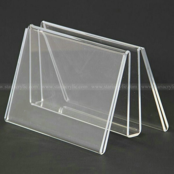 Acrylic Leaflet with Sign holder, Lucite Table tents Menu Stands