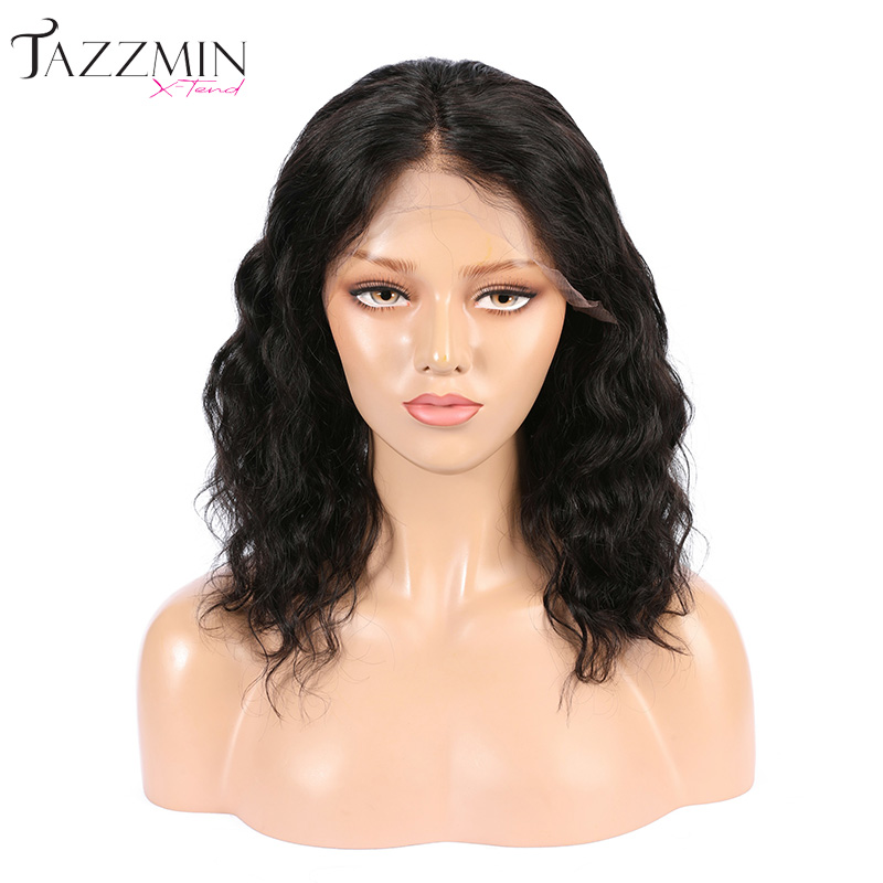 Natuurlijke wave raw virgin indian remy human hair zwitserse front lace pruik