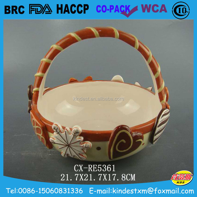 China ceramic easter gift wholesale alibaba fabulous flower ceramic easter gift easter basket for easter day negle Image collections