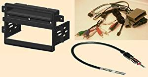 Radio Stereo Install Dash Kit single din + Steering control wiring + canbus wire harness + antenna adapter for Lincoln Navigator with base CD6 Radio 2007 2008 2009 2010 2011 2012
