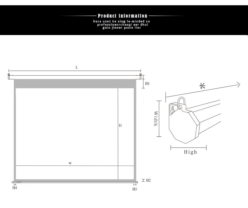 Hot sales manual waterproof projector screen for LED/HD projector