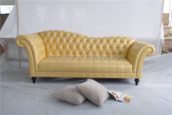 Amerikan Vintage Tarzı Kanepe Döşemelik Üç Kişilik Rahat Uzun Geri kumaş kanepe Oturma Odası Mobilya