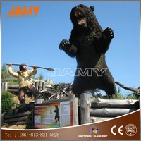 Animatronic push cover animal model simulated bear sculpture for sale