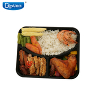 3 compartments microwave plastic takeaway meal prep PP disposable food container bento lunch box