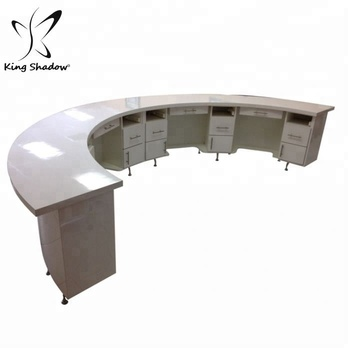 King shadow curve shape nail bar tables pedicure station modern for beauty salon