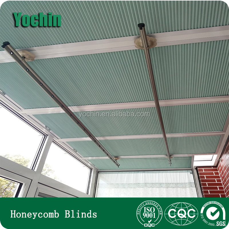 China elegant honeycomb blinds motorized skylight pleated blinds for home decor