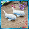 PVC soft rubber airplane shape USB flash drive with logo printing