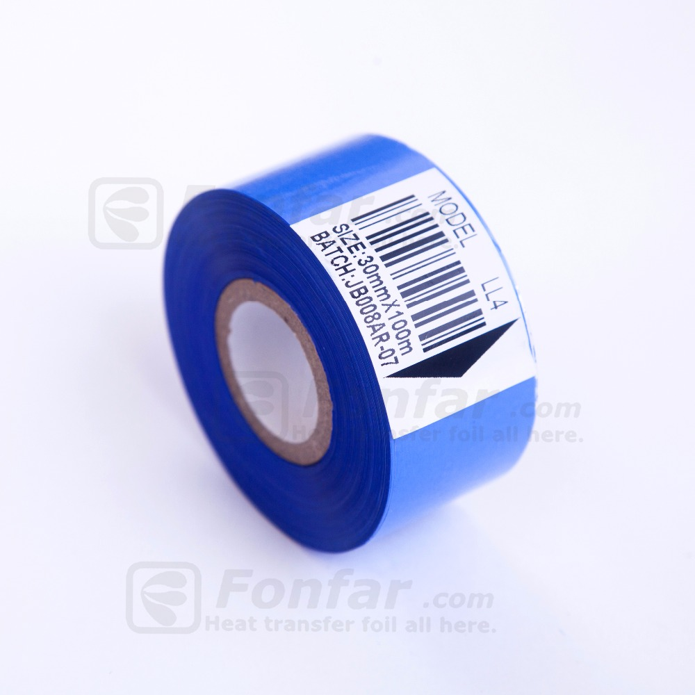 Colored Hot stamping foil for PVC pipe & cable printing on food