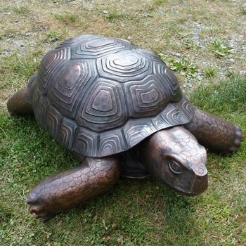 Theme Park Garden Decoration Life Size Bronze Turtle Sculpture