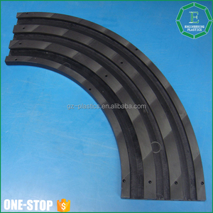 Engineering plastic sheet parts customized black plastic Tivar1000 HDPE bending guide