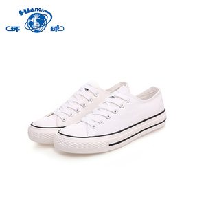 HUANQIU lace-up cheap white womens casual canvas shoes