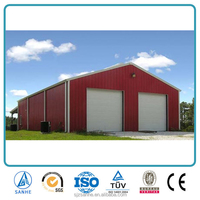 red within low cost car shed design
