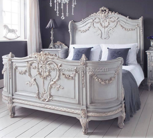 Bonaparte French Bed A Regal And Luxurious French Bedroom Furniture In  Tones Of Soft And Creamy Blue And Ivory - Buy French Bedroom ...