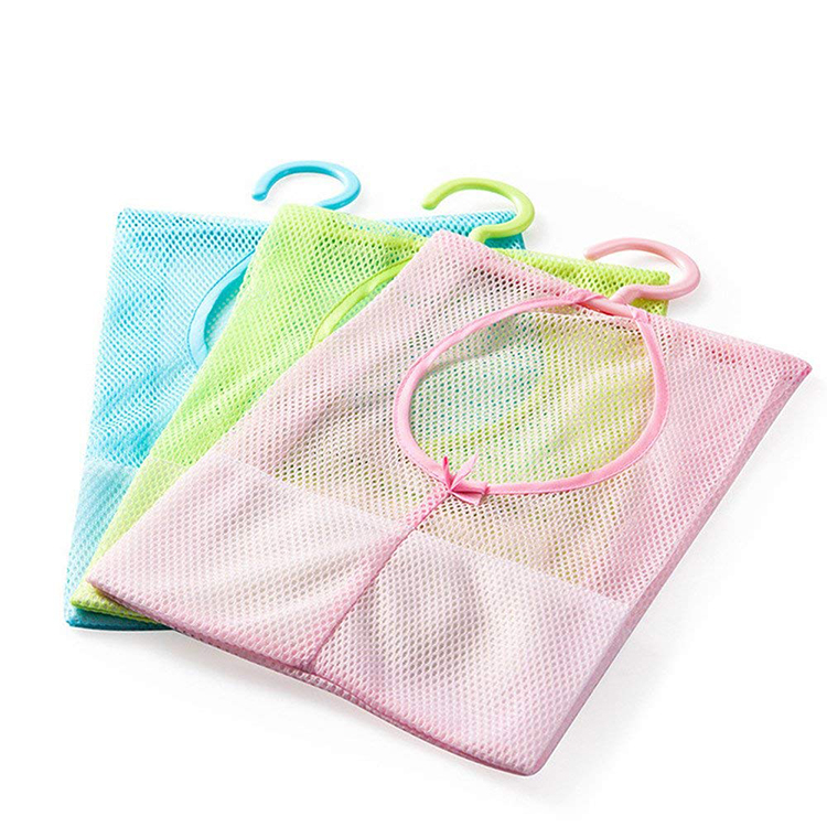 Hanging drying Mesh Storage Organizer Bag